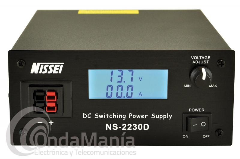 BLACK FRIDAY-NISSEI NS-2230D FUENTE DE ALIMENTACION DIGITAL REGULABLE DE 9 A 15 VCC Y DE 28 A 30 AMP