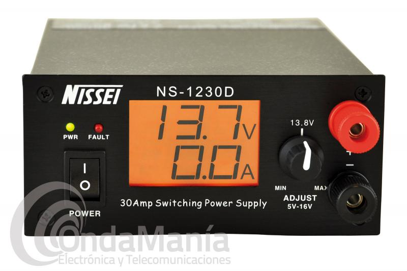 BLACK FRIDAY-NISSEI NS-1230D FUENTE DE ALIMENTACION DIGITAL REGULABLE DE 5 A 16 VCC Y DE 25 A 30 AMP