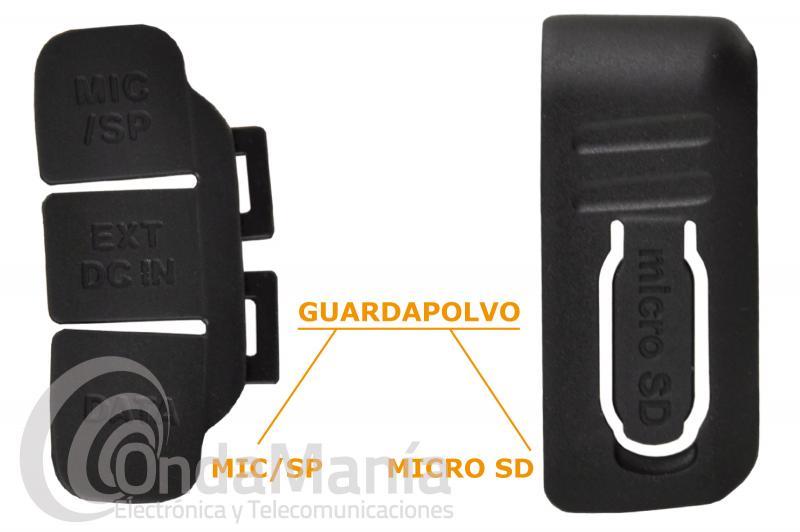 PAREJA DE GUARDAPOLVO PARA TAPAR LAS TOMAS MICRO-SD Y SP/MIC-DC INT/DATA PARA EL YAESU FT-1