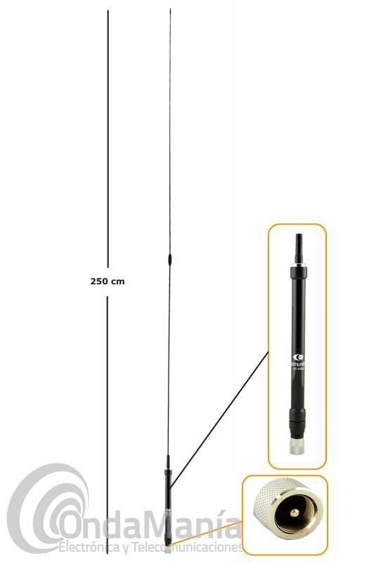 KOMUNICA HF-PRO-2 ANTENA PORTABLE TELESCOPICA WIDE-BAND DE 7 A 30 MHZ Y 50 MHZ.