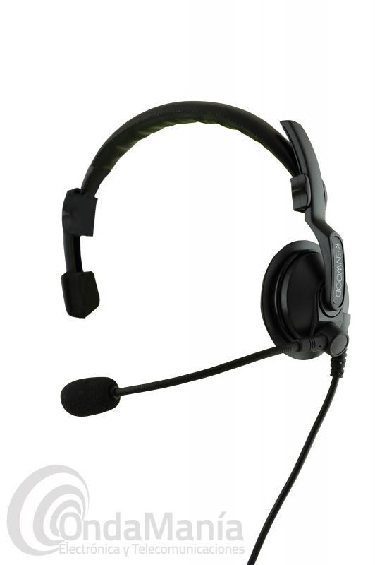 KENWOOD KHS-7A MICROFONO AURICULAR CON DIADEMA  - Auricular ligero con micrófono tipo