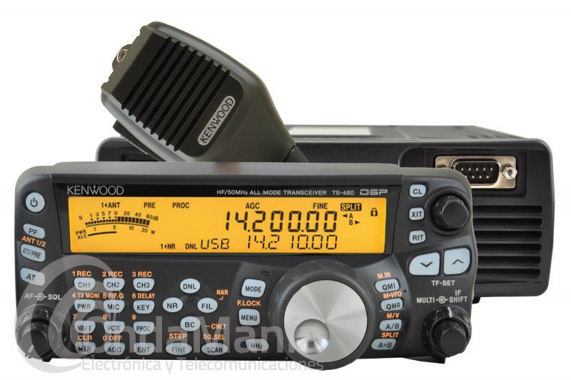 KENWOOD TS-480SAT - El Kenwood TS-480SAT es un transceptor de HF y 50 Mhz. con 100 W. de potencia y muy robusto, dispone de un panel de control de LCD separado del cuerpo del equipo.