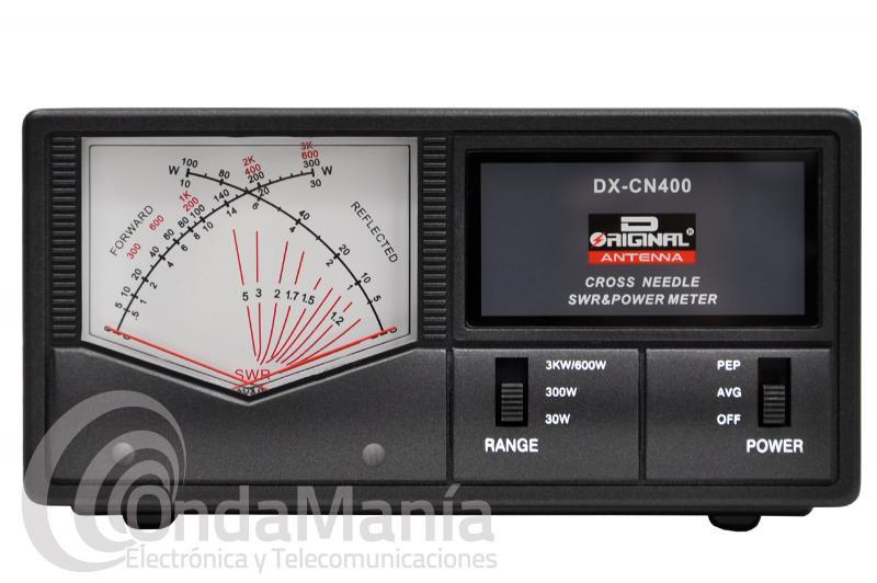 MEDIDOR DE ROE Y WATIMETRO DE AGUJAS CRUZADAS D-ORIGINAL DX-CN-400N DE 130 A 525 MHZ. 600 W.