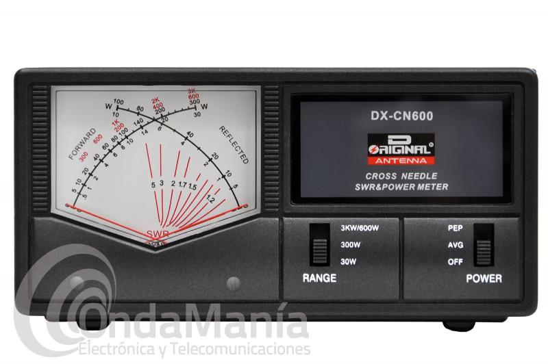 MEDIDOR DE ROE Y WAT. DE AGUJAS CRUZADAS D-ORIGINAL DX-CN-600N 1,8-190 Y 130-525 MHZ