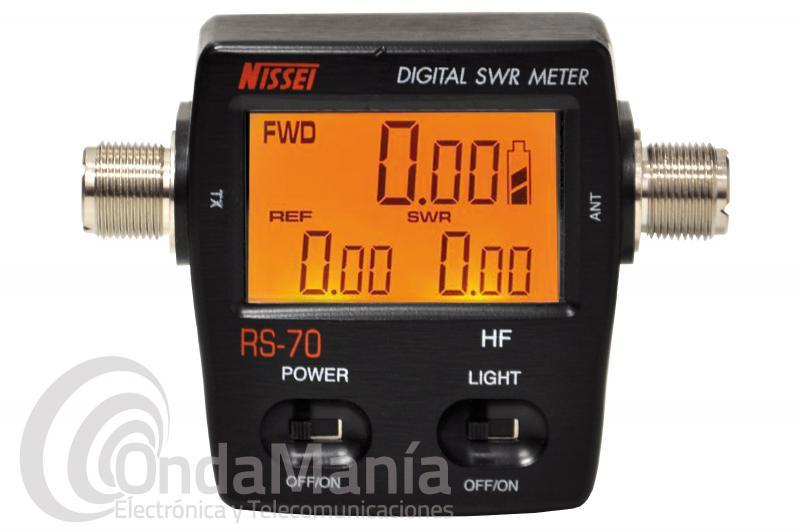 NISSEI RS-70 MEDIDOR DE SWR Y POTENCIA DIGITALDE 1.6 A 60 Mhz + PILAS DE REGALO