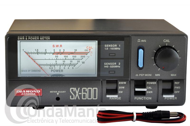 DIAMOND SX-600 MEDIDOR DE ROE Y POTENCIA DE 1,8 A 160 MHZ Y 140 A 525 MHZ