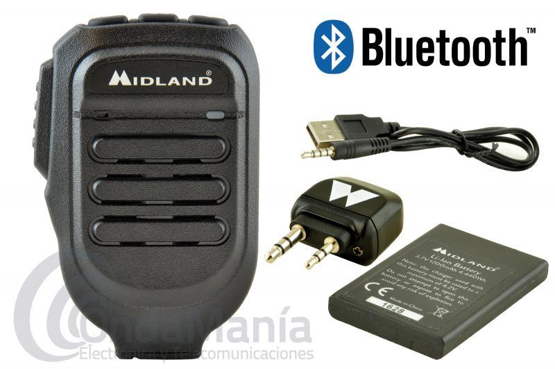 PACK COMPUESTO POR MIDLAND WA-CB Y MIDLAND WA-MIKE - Pack compuesto por el Midland WA-CB y WA-MIKE. El WA-MIKE es un micrófono de mano Bluetooth para transceptores compatible con adaptadores WA-Dongle, WA-Dongle K, WA-Dongle M. El WA-DONGLE es un adaptador Bluetooth de tamaño extremadamente reducido. Funciona exactamente igual que WA-DONGLE, pero está diseñado para conectarse a las emisoras CB pequeñas donde no se podía conectar el WA-DONGLE.