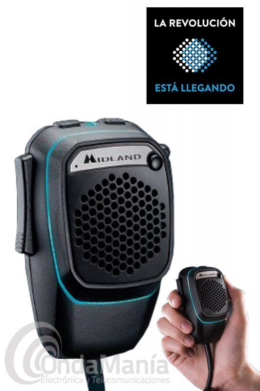 MIDLAND DUAL MIKE EL MICROFONO QUE VALE POR DOS, COMPATIBLE MIDLAND, PRESIDENT, SUPER STAR,... - El micrófono Midland Dual Mike revoluciona las reglas de la radiocomunicación, es el primer micrófono que permite una doble conexión: con su emisora CB a través de la conexión del micrófono y con el smartphone a través de Bluetooth, con la aplicación CBTalk puede hablar con quien quiera y donde quiera sin límites de distancia con una excelente calidad de audio.