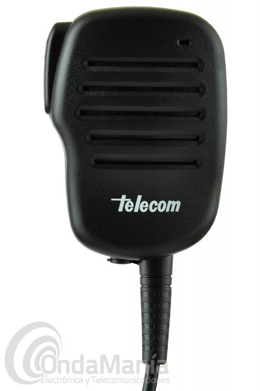 MICRO-ALTAVOZ TELECOM JD-5002 RESISTENTE, EXTRA-PLANO COMPATIBLE CON KENWOOD, DYNASCAN, TEAM,HYT,...