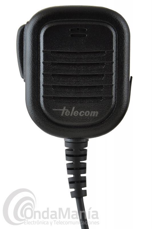 MICROFONO ALTAVOZ TELECOM MA-RT-TPH900 COMPATIBLE CON AIRBUS TETRAPOL TPH900 - Micrófono altavoz Telecom MA-RT-TPH900 compatible con Airbus Tetrapol TPH-900 dispone de un clip metálico inoxidable y giratorio con 8 posiciones, cable rizado y reforzado, toma de auricular de 3,5 mm y un estándar IPX-4.