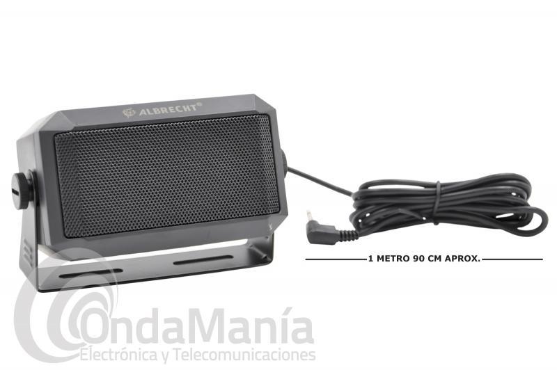ALTAVOZ EXTERNO ALBRECHT CB-250 TIPO RECTANGULAR CON UNA POTENCIA DE 5 A 7 W MAX.