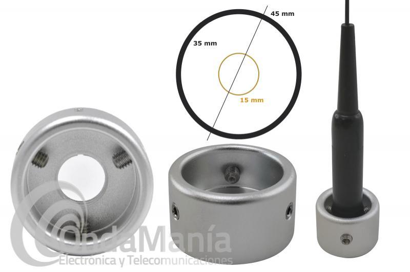 ARO ANTIROBO PARA ANTENA MOVILES D-ORIGINAL DX-AL-01 CON UN DIAMETRO DE 35MM
