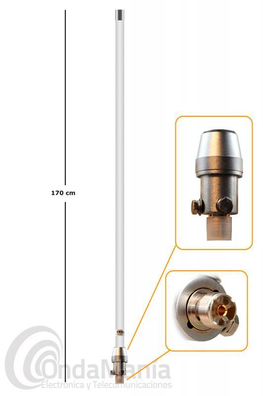 ANTENA DE BASE DOBLE BANDA VHF Y UHF DIAMOND VX-50 DIGITAL ORIGINAL JAPON CONECTOR PL