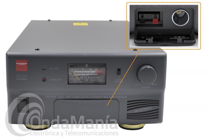 FUENTE DE ALIMENTACION DIAMOND GZV-6000 REGULABLE1 A 15 VCC Y 60 AMP