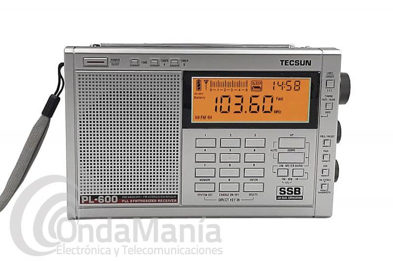 TECSUN PL-600 SILVER RECEPTOR MULTIBANDA LW/MW/SW-SSB/FM ESTEREO/...