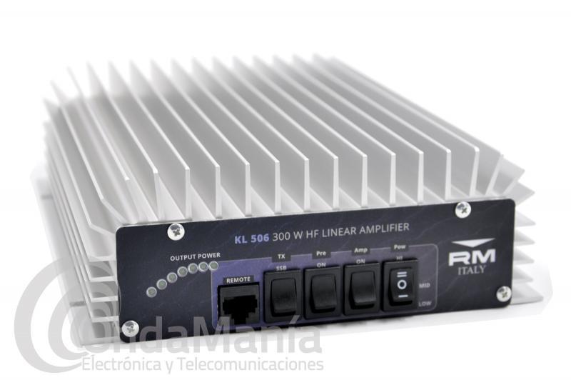 AMPLIFICADOR LINEAL DE HF 3 A 30 MHZ RM KL-506 CON PRE-AMPLIFICADOR Y  60 A 300 W DE SALIDA