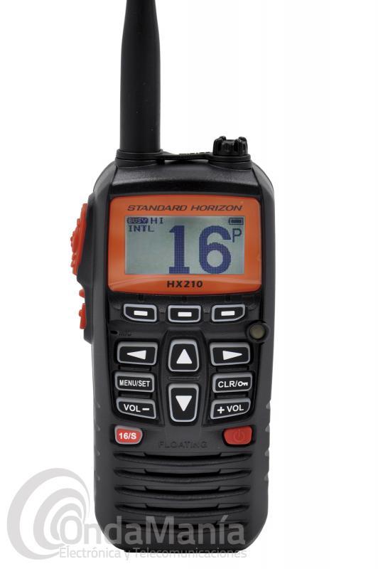 WALKI TALKI MARINO DE VHF STANDARD HORIZON HX-210E