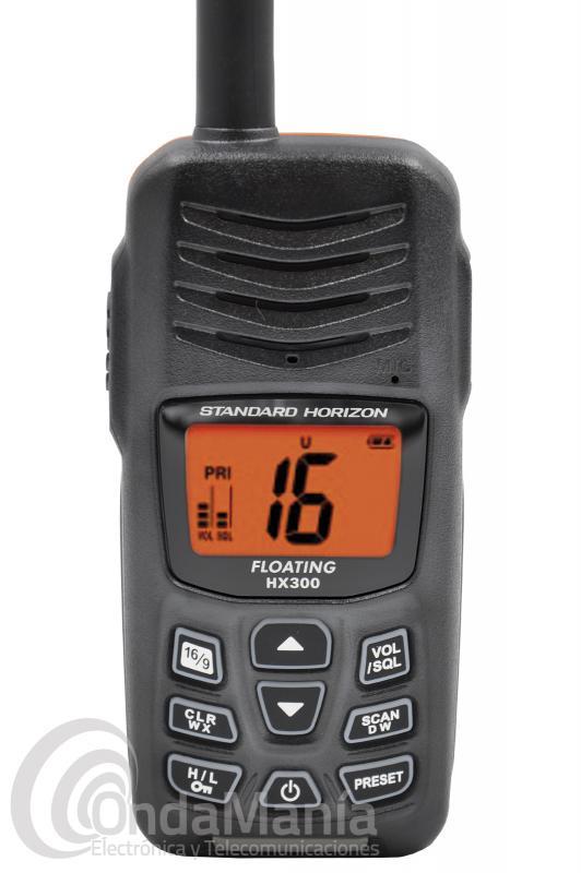 WALKIE TALKIE MARINO DE VHF STANDARD HORIZON HX-300E SUMERGIBLE  IPX8