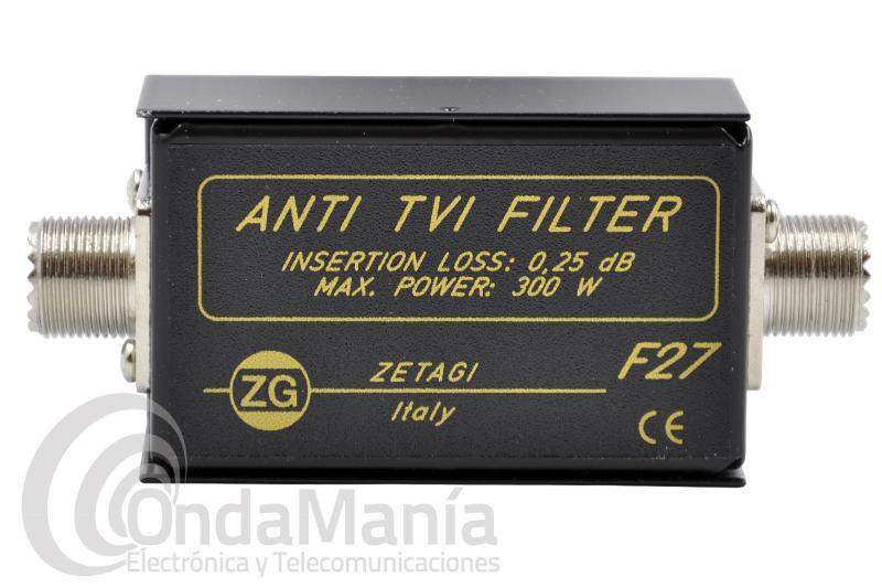 FILTRO PASABAJOS ZETAGI F-27 ANTI-INTERFERENCIAS TV - CB