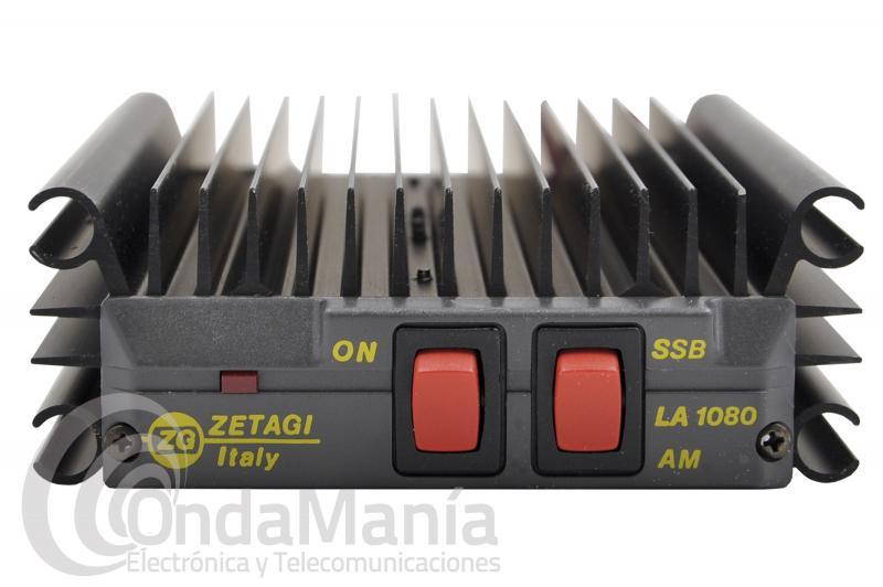 AMPLIFICADOR ZETAGI LA1080V DE VHF DE 140 A 170 MHZ CON 100W AM, FM Y SSB , 12 VCC