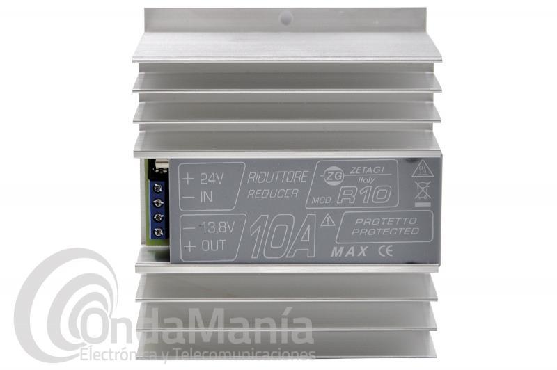 ZETAGI R-10 REDUCTOR DE TENSION  DE 24 A 12 V CON 10 AMP