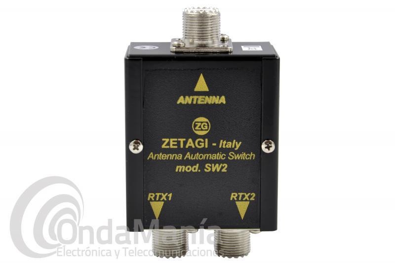 CONMUTADOR AUTOMATICO DE ANTENA ZETAGI SW-2 PARA CONECTAR 2 EQUIPOS A 1 ANTENA
