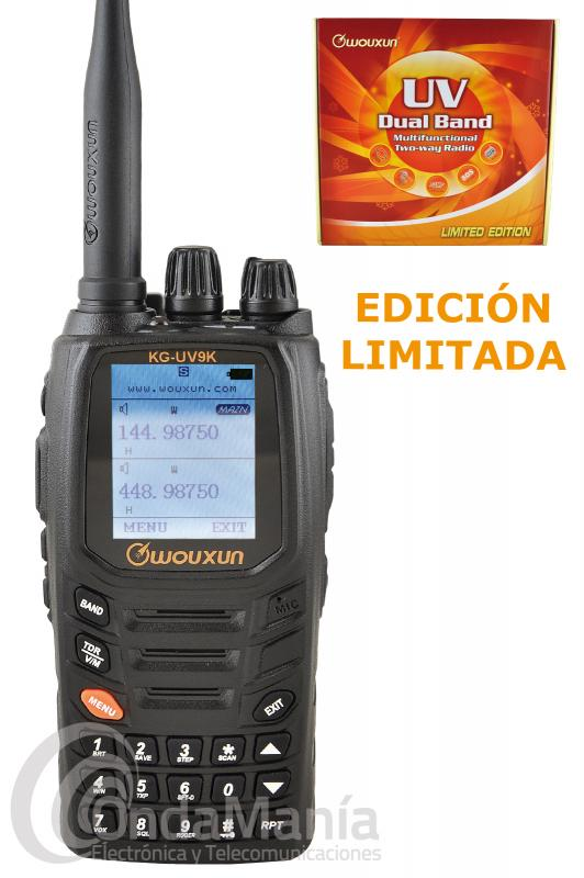 WALKI TALKIE DOBLE BANDA WOUXUN KG-UV9K PRO EDICION LIMITADA CON MULTIPLES ACCESORIOS