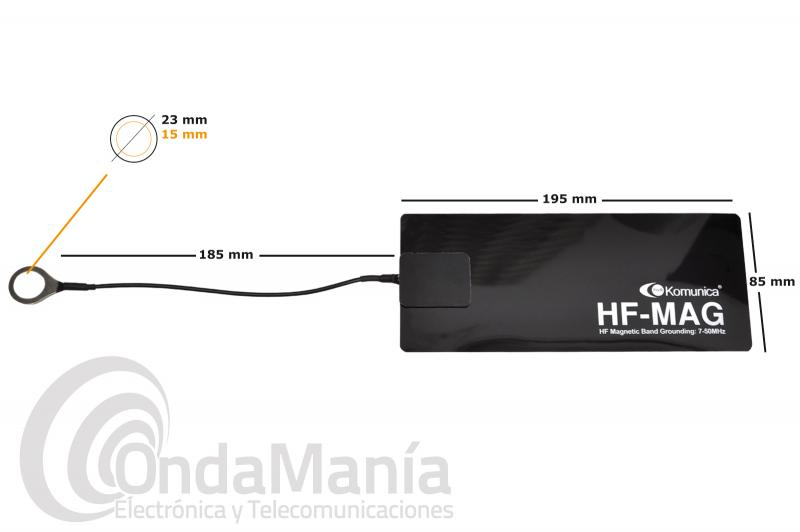 KOMUNICA HF-MAG CHAPA/PLANO DE TIERRA MAGNETICO PARA ANTENAS DE HF DE 7 A 50 MHZ
