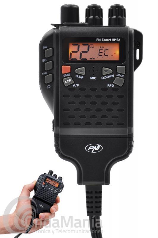 PNI ESCORT HP-62 MINI TRANSCEPTOR DE MANO DE BANDA CIUDADANA CON 40 CANALES AM Y FM