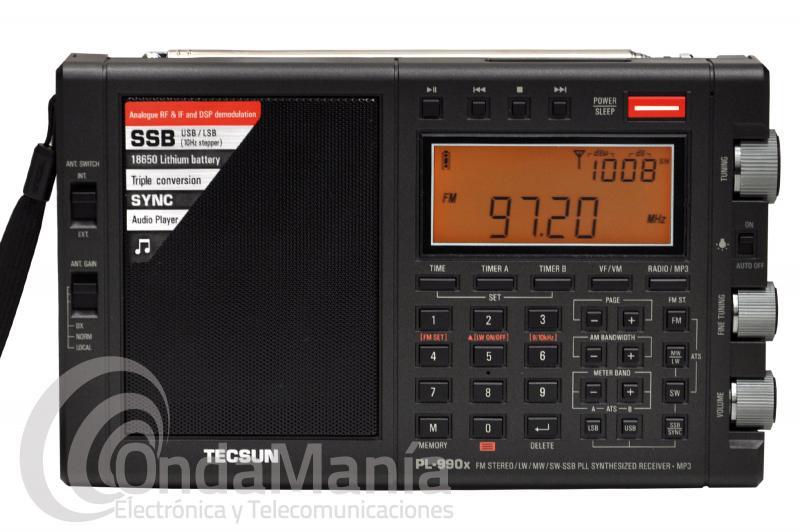 TECSUN PL-990X RECEPTOR FM ESTEREO, ONDA LARGA, ONDA MEDIA, ONDA CORTA CON SSB, AM Y MP3