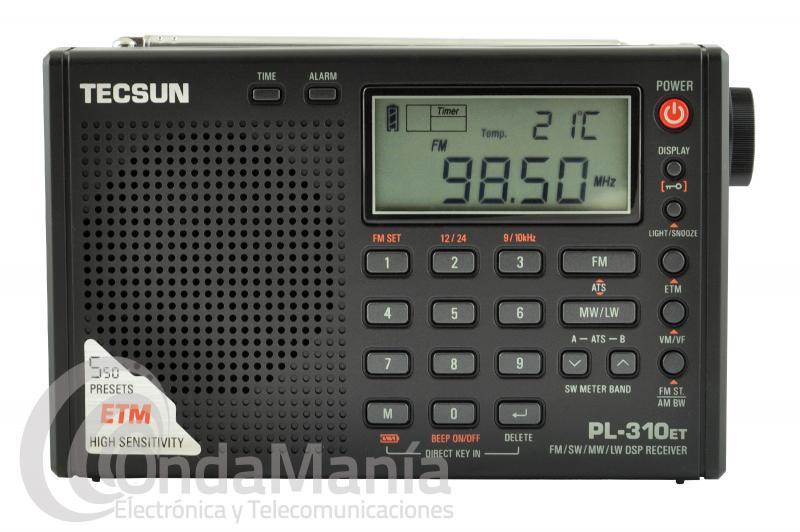 RECEPTOR DSP TECSUN PL-310ET MULTIBANDA CON FM ESTEREO, SW, MW Y LW