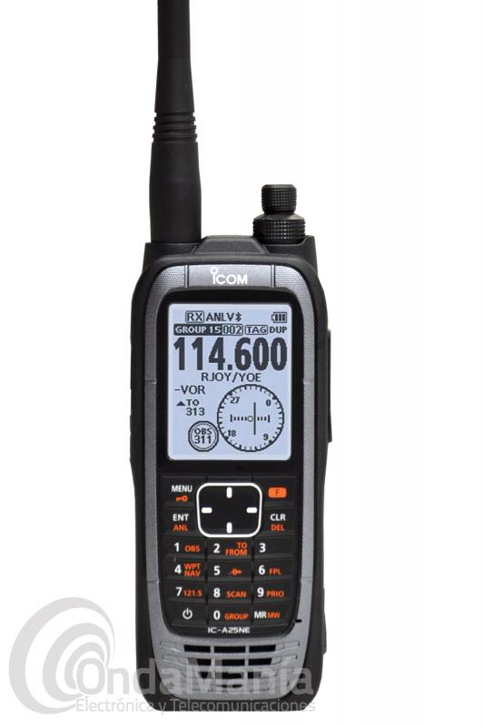 WALKIE TALKIE DE BANDA AEREA ICOM IC-A25NE#13 CON 6 W, GPS Y BLUETOOTH