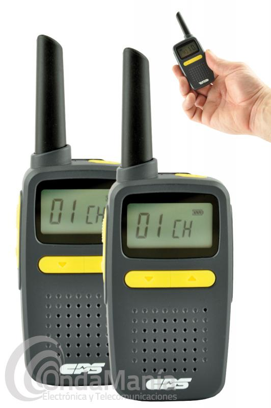 PAREJA DE WALKIE TALKIES PMR-446 CPS CP-225 CON BATERIA DE LITIO Y CARGADOR