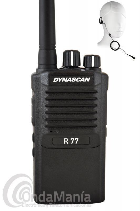 DYNASCAN R-77 PMR446 DE USO LIBRE CON PINGANILLO DE REGALO Y SIN GASTOS DE ENVIO