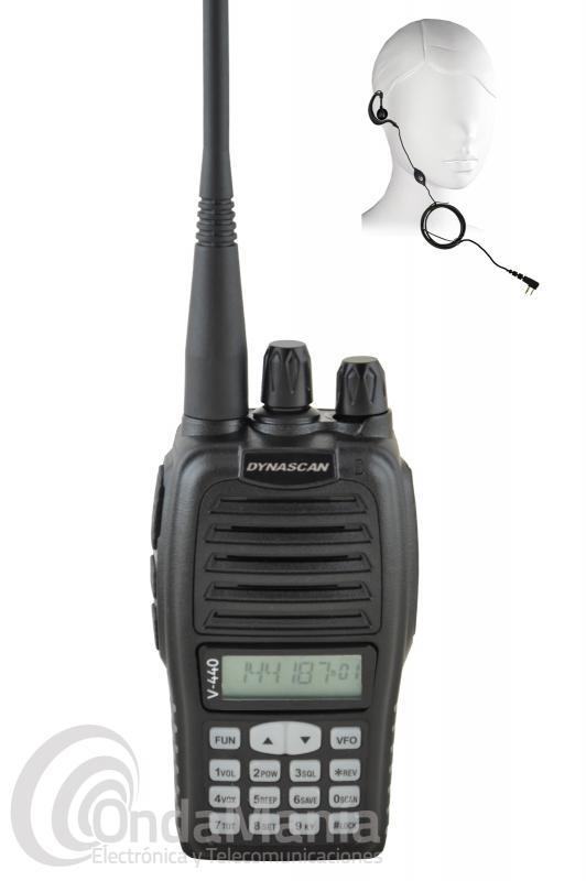 DYNASCAN V-440 WALKI TALKIE DE VHF CON RADIO FM + PINGANILLO DE REGALO