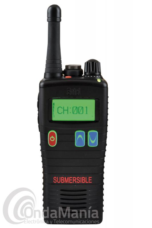 WALKI TALKI PMR-446 DE USO LIBRE ENTEL HT-446L CON DISPLAY Y SUMERGIBLE IP68
