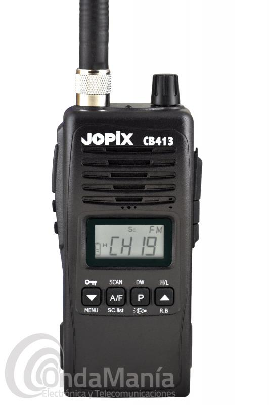 JOPIX CB413 WALKY DE BANDA CIUDADANA MULTINORMA AM/FM Y 4 W+PINGANILLO DE REGALO