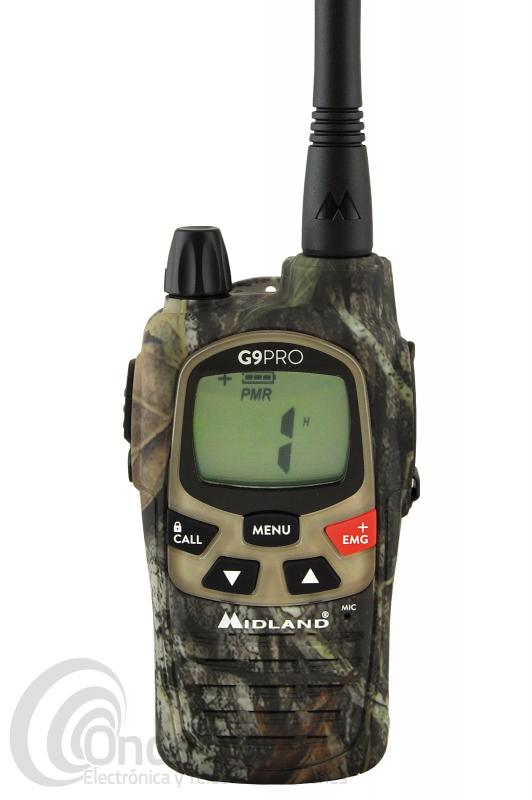 WALKI TALKI DE USO LIBRE PMR-446 MIDLAND G9 PRO MIMETIC - OUTLET