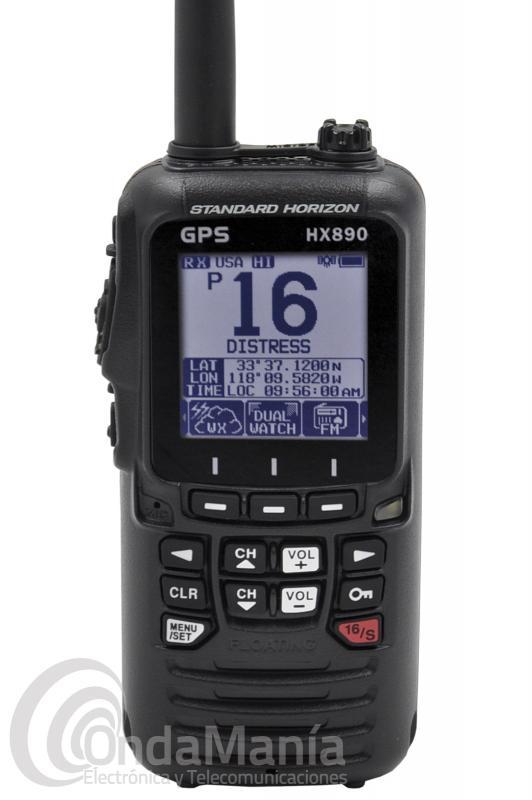 WALKI TALKI MARINO DE VHF STANDARD HORIZON HX-890E CLASE-H DSC, COLOR NEGRO, IPX8, FLOTA, GPS,...