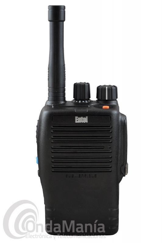 WALKI TALKIE PMR/DMR-446 ENTEL DX-446E DE USO LIBRE SUMERGIBLE IP68