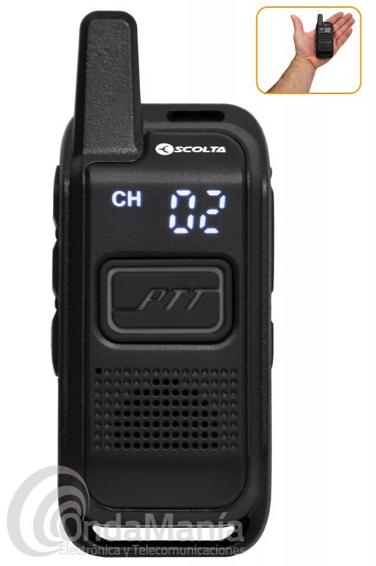 WALKIE TALKIE PMR-446 SCOLTA ECO WT446 RP-102 CON DISPLAY OCULTO, VIBRACAL, 199 CH,...