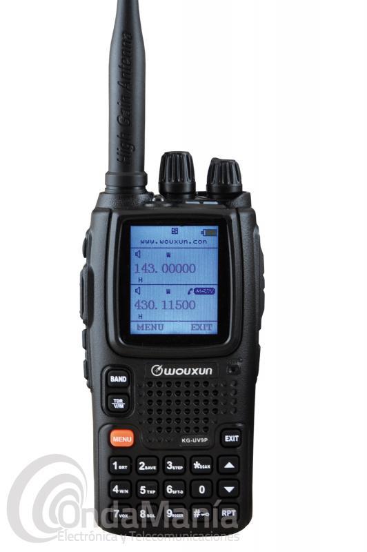 WOUXUN KG-UV9P WALKIE DOBLE BANDA FULL DUPLEX, 7 Y 5 W, RADIO FM Y LINTERNA LED+PINGANILLO. - El Wouxun KG-UV9P incluye nuevas funciones como transponder modo repetidor banda cruzada, luces del LCD y teclado con apagado total o temporizado,.... aparte continua con sus características habituales como: equipo doble banda UHF/VHF Full Duplex con 999 canales de memoria, 7 bandas en recepción, batería de litio con 3200 mAh, cargador rápido, linterna LED,...