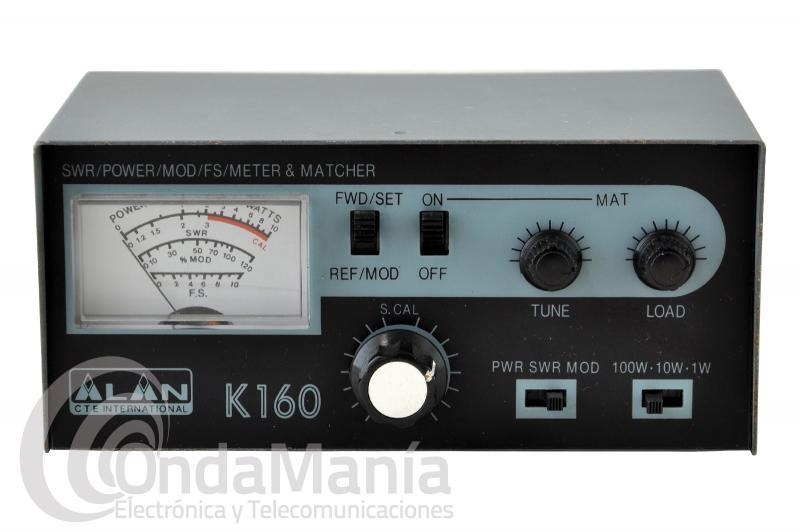 ALAN K-160 MEDIDOR, ACOPLADOR Y VATIMETRO PARA CB OUTLET
