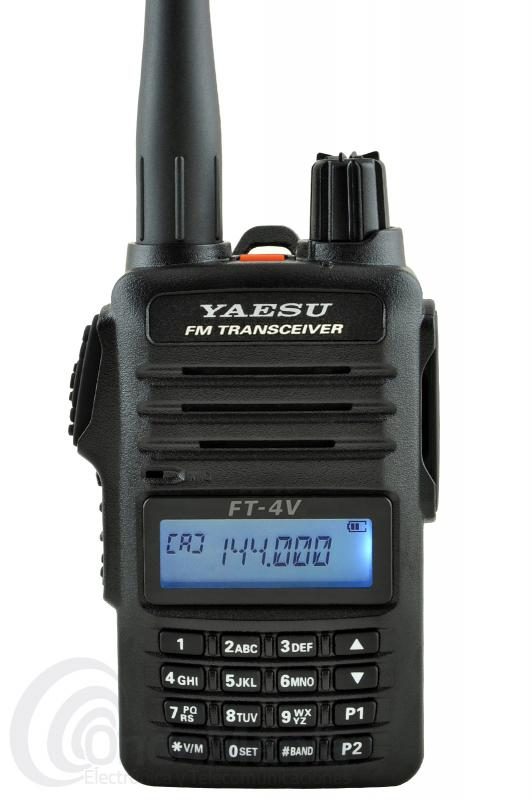 YAESU FT-4VE WALKI TALKI DE VHF CON RADIO DE FM COMERCIAL+PINGANILLO DE REGALO