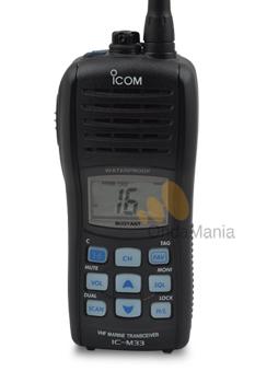 ICOM IC-M33 - Icom IC-M33 transceptor de VHF para marina con 5W. de potencia, batería de Ion-Litio,...
