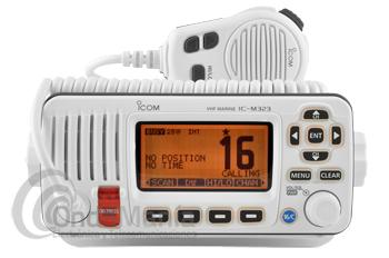 ICOM IC-M323 BLANCO TRANSCEPTOR MARINO VHF IPX7 DSC CLASE D - Transceptor VHF marino IPX7 DSC clase D, sencillo de operar gracias a sus grandes teclas, altavoz con clara audición, DCS incorporado que cumple con los requerimientos ITU de clase D, construcción resistente e impermeable IPX7,...
