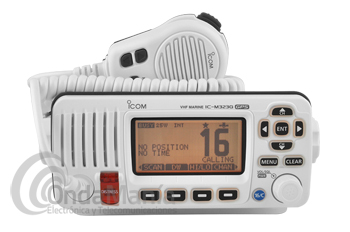 ICOM IC-M323G BLANCA TRANSCEPTOR MARINO VHF IPX7 DSC CLASE D Y GPS