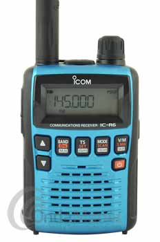ICOM IC-R6 METALLIC BLUE RECEPTOR PORTATIL