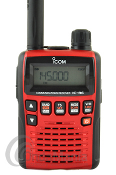 ICOM IC-R6 METALLIC RED RECEPTOR PORTATIL