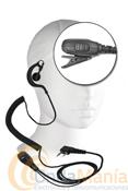 TELECOM JD-2302E - Micrófono auricular para Kenwood, Kirisum, Alan CT-200/CT-210, Dynascan, con un robusto PTT y un auricular con cable rizado y ergonómico.